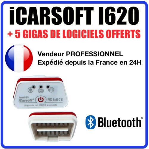 Diag OBD Puce ELM327 ÉVOLUTIVE COM Interface iCARSOFT i620 BLUETOOTH