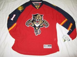 newest e737b 1e6b4 Details about Roberto Luongo Florida Panthers 2015 Red Large Reebok Premier  Jersey