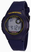 Casio Men's 10-Year Battery Digital Blue Resin Watch F200W-2B