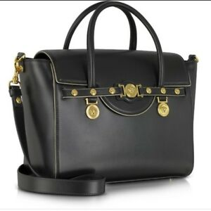 68c2df64758b Authentic Versace Women s Leather Classic Satchel Bag Handbag Large ...