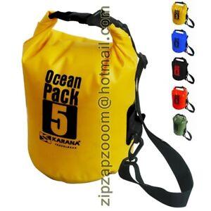 7605c352173 Karana 5 Litre L Ocean Dry Pack Waterproof Kayak Shoulder Rucksack ...