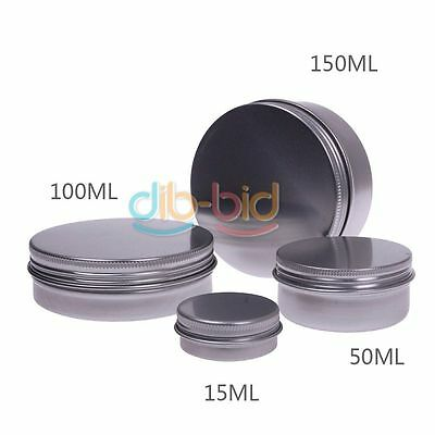 Hot 25/100ML Round Aluminium Tin Pot Lady Lip Gloss Container With Screw Thread
