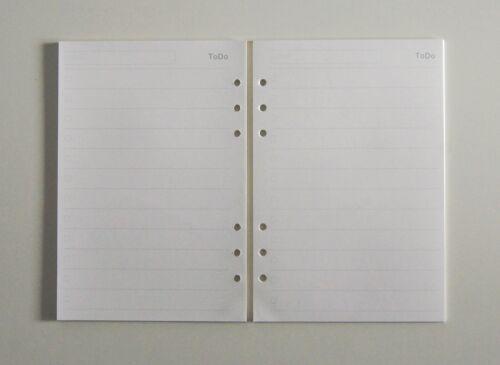 45 Blätter 100g//m² Cremepapier Refill Einlagen für 6-Ringe Ringbuch A5A6