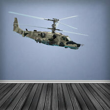 Army Helicopter Wall Art Sticker Camouflage Decal Decor Boys Vinyl Graphic Cadet