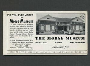 Warren-NH-c-1920s-30s-MORSE-MUSEUM-Mounted-Animal-Trophies-Unused-Adv-Blotter