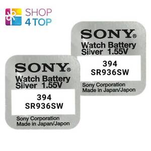 2-SONY-394-SR936SW-BATTERIES-SILVER-OXIDE-1-55V-WATCH-BATTERY-EXP-2021-NEW