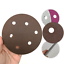 """5/"""" 125×5mm 6 Holes Wet Dry Sponge Sanding Disc 300~2000 Grit Sandpaper Polishing"""