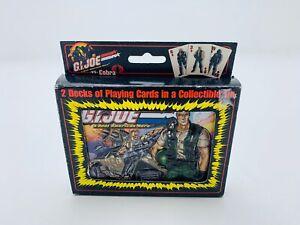 G.I Joe A Real American Hero .VS. Cobra 2 Deck Playing Cards Collectible Tin