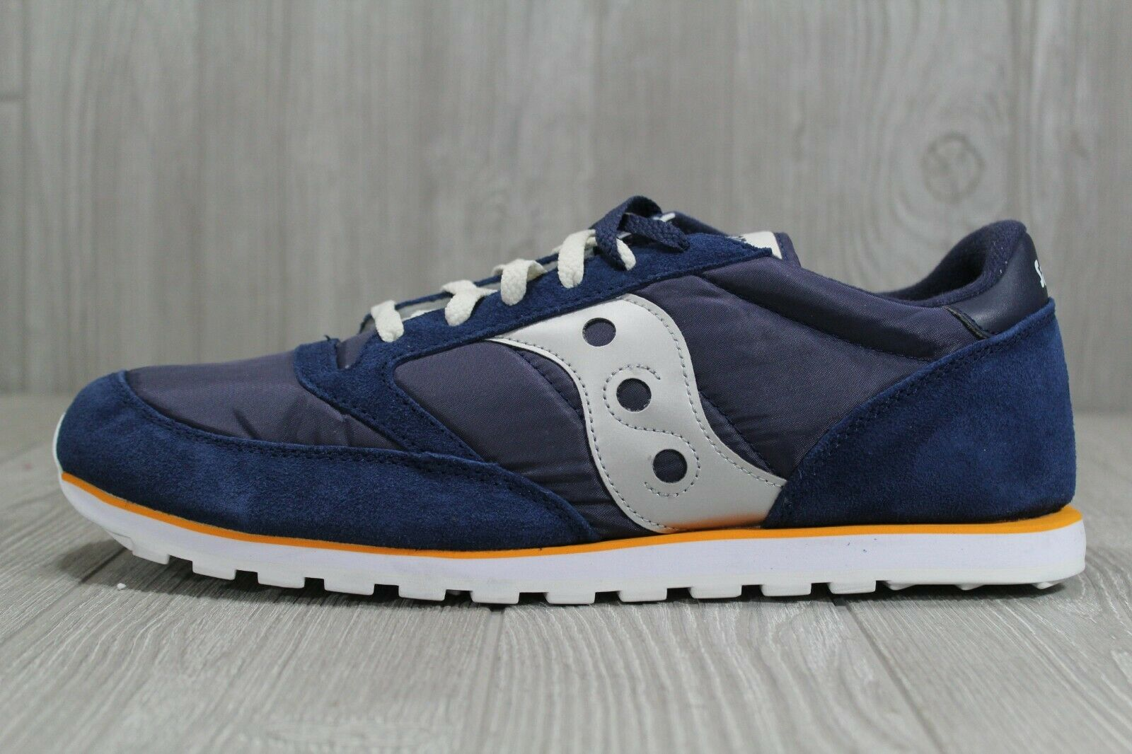 40 New Saucony Jazz Low Pro bluee Suede White Men's Running shoes Size 14