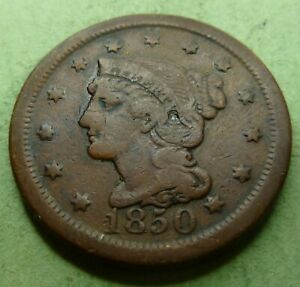 1850-Large-Cent-LC50-8-Very-Nice-Coin