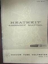 Heathkit Assembly Manual Vacuum Tube Voltmeter Model V 7a