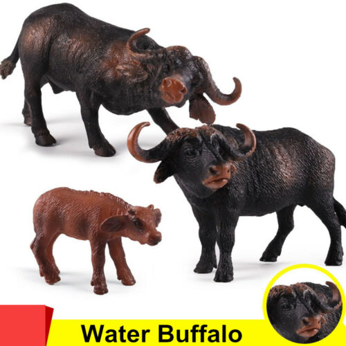 Wild Animal Water African Buffalo Figure Collector Toy Educational Model Gift
