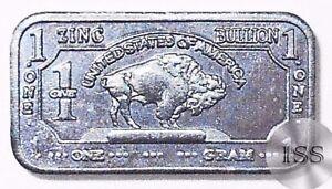 Fine .999 Zinc Ingot 1 Gram Pure Buffalo Bar Collectible Metal Elemental Bullion