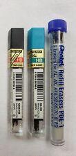 Lot Pentel Pencil Lead Eraser Refills Super Hi Polymer 05mm 07mm