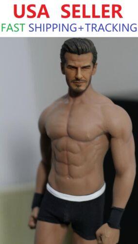 Custom 1//6 Scale David Beckham w// PHICEN M33 1//6 Seamless Male Muscular Body set