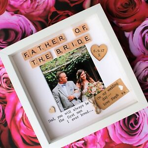 Birthday Wedding Gift Present Photo Frame Mother Father Of Groom