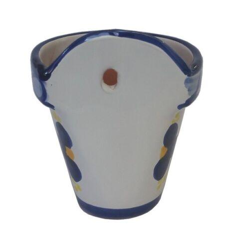Spanish Terracotta Wall Planter 17 cm X 14 cm Spanish Handmade Ceramic Pottery