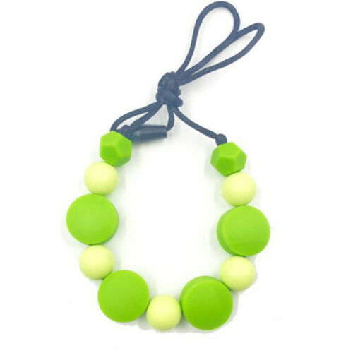 Food Grade Silicone Teething Bead Necklace For Mum Infant Baby Teether Toy Z
