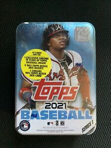 2021 Topps Series 1 MLB Baseball Trading Cards Ronald Acuna Atlanta Braves Tin