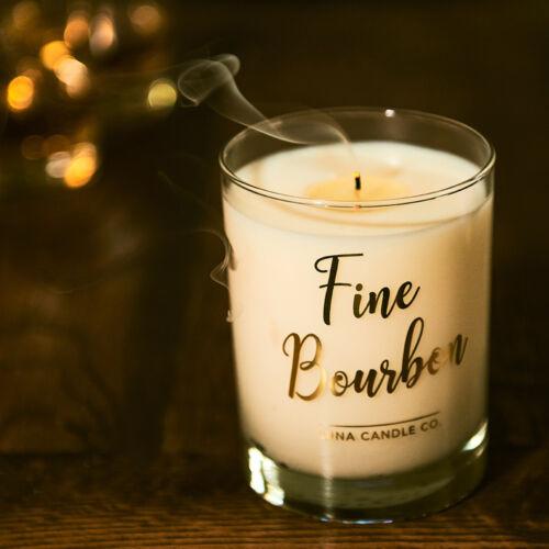 Luna Candle Co Bundle of 2 Elegant Fine Bourbon Blended Soy Wax Jar Candle