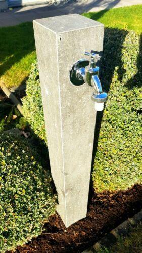 Wasserzapfsäule BASALT geflammt  Bewässerung Außenwasserhahn Brunnen Zapfstelle.