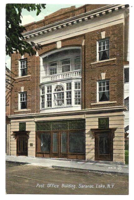 SARANAC LAKE, NEW YORK  Post Office Building Publisher Valentine & Sons Co. Ltd.