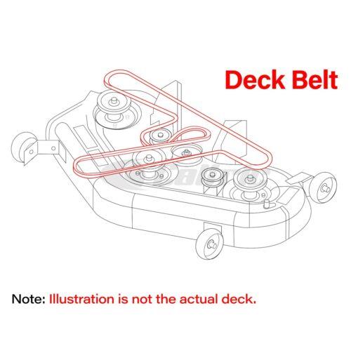 "1//2/"" X 114.3/"" Deck Belt for Troy-Bilt Mustang XP Tractor RZT Series Tractor"