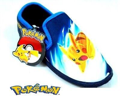 * Venta * chicos nuevos Pokemon Astley Pikachu Zapatillas Mocasines Talla 8 - 2