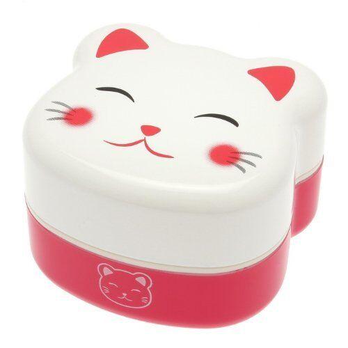 Kotobuki 2-Tier Bento Box White Kitty