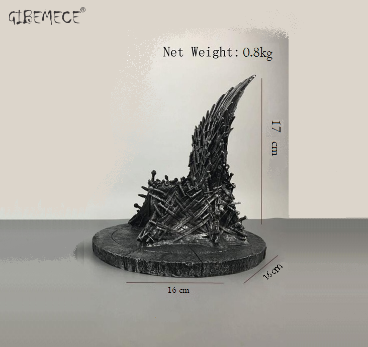 02 Größe The Iron Throne Game Of Of Of Thrones A Song Of Ice And Fire One Piece Action 058783
