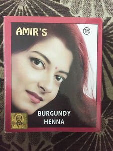 Amir S Burgundy Hair Color With Henna 6 Pouches 10 Grams Each