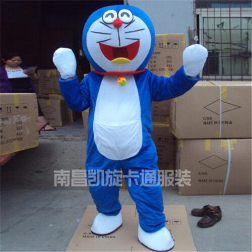 Doraemon Mascot Costume Fancy dance Adult Size Suit Animal Costume