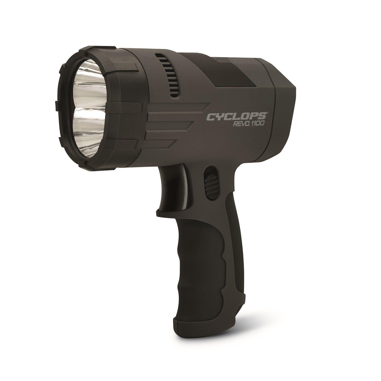 Cyclops Revo 1100 Lumen Handheld Rechargeable Spotlight-Blk CYC-X1100H