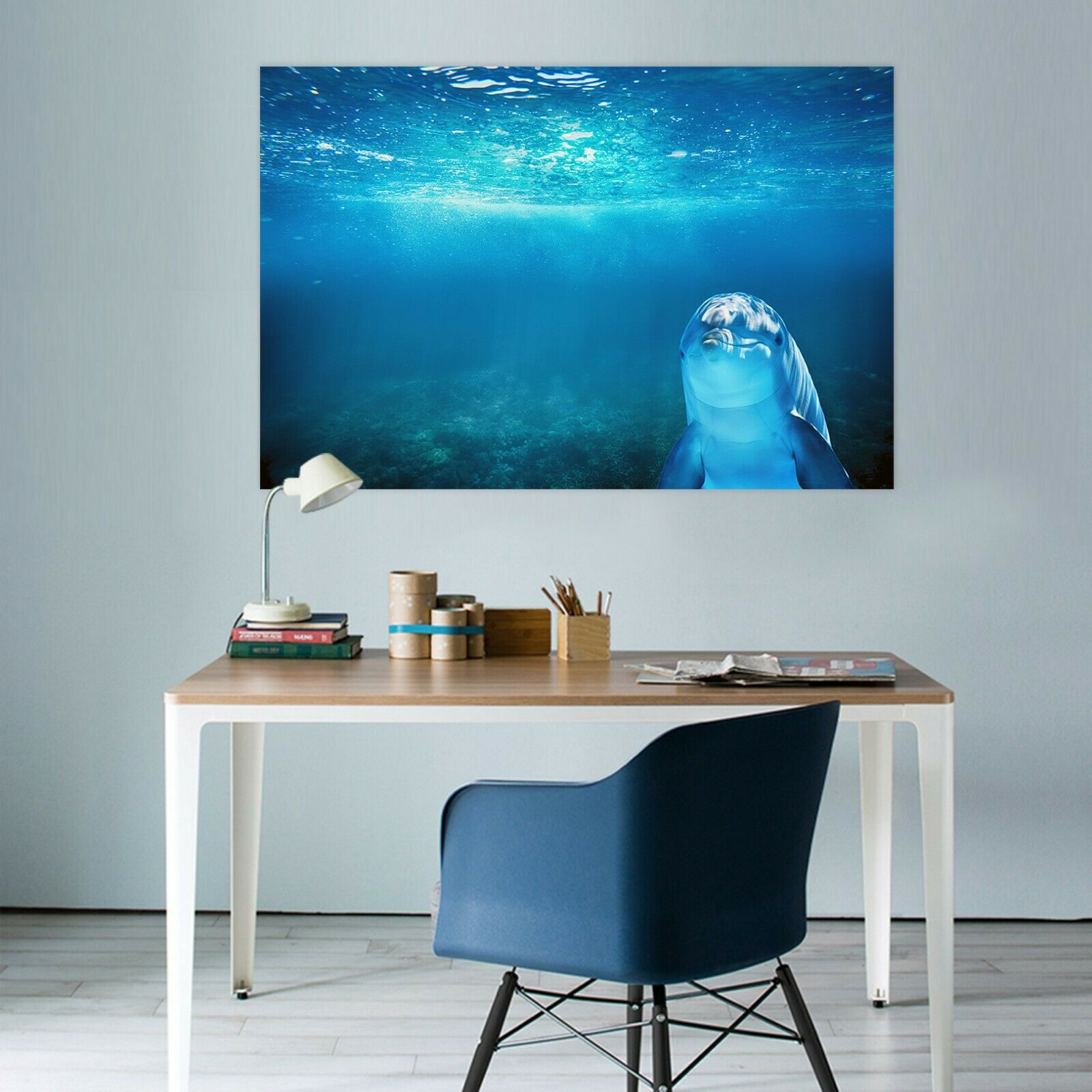 3D Seabed Dolphin C75 Animal Wall Stickers Wallpaper Mural Wall Murals Zo