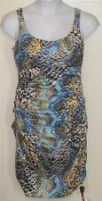 Sangria misses 8 colorful snake skin prirt sleeveles sheath dress Pretty j55