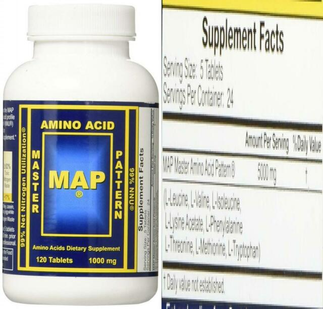 Map Master Amino Acid Pattern 1000mg 120 Tablets For Sale Online