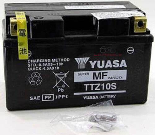BATTERIA YUASA TTZ10S EX YTZ10S HONDA CBF 500 CB F HORNET CBR F 600
