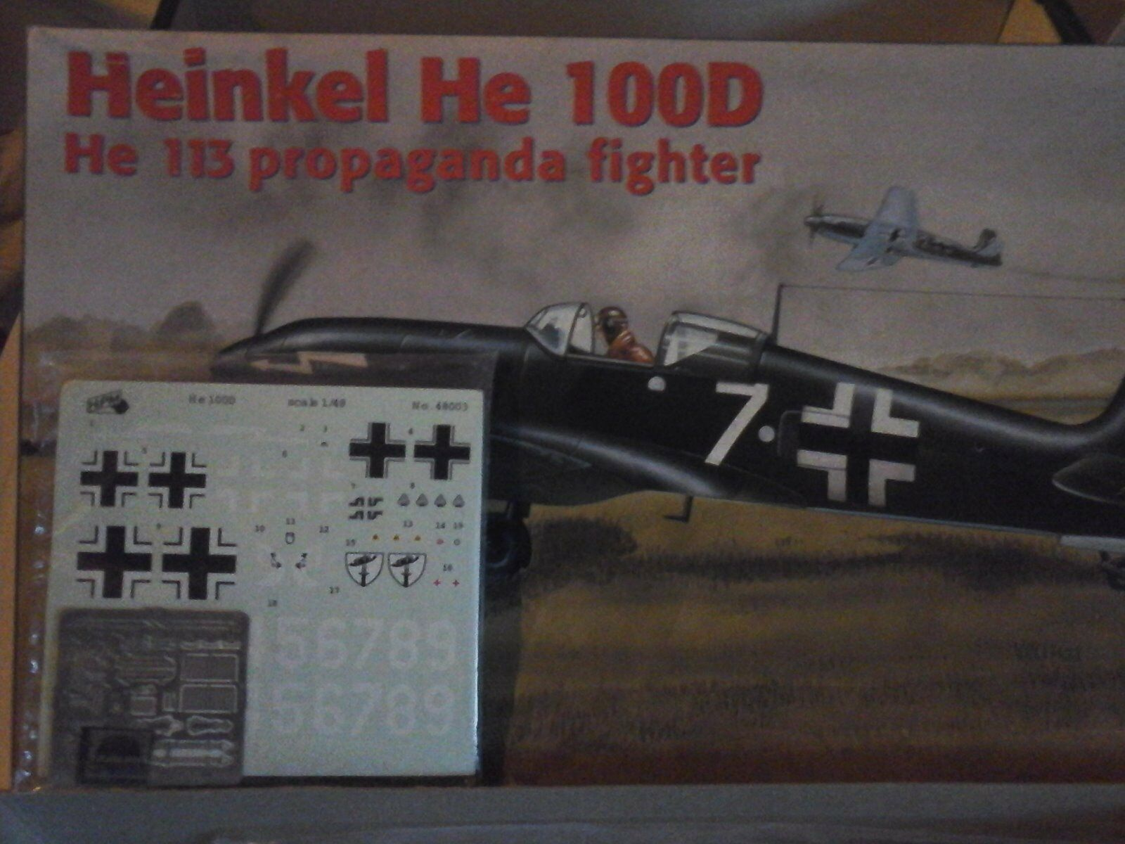 HEINKEL HE 100D 1 48 SCALE HIPM MODEL+ PHOTOETCHED PARTS INCLUDED