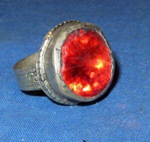 Ring-Fashion-Circle-Red-Afghan-Kuchi-Tribal-Alpaca-Silver-1-034-Size-7-to-9