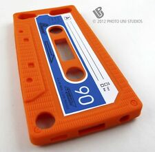 ORANGE FUN CASSETTE TAPE SILICONE RUBBER SKIN CASE COVER APPLE IPOD TOUCH 5