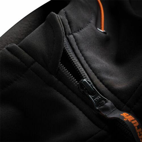 Scruffs Worker Softshell Black Jacket Men/'s Workwear Work Coat Fleece Lined