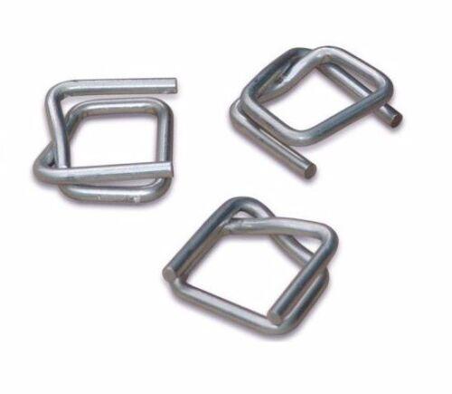 Verschlussklemmen für Umreifungsband 16 mm 500 Stück verzinkt  geriffelt