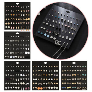 30Pair-Set-Hypoallergenic-Geometric-Crystal-Earrings-Piercing-Stud-Earrings
