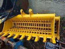 Heavy Duty Cat 305 48 Excavator Skeleton Bucket Screen Topsoil Demo Clean