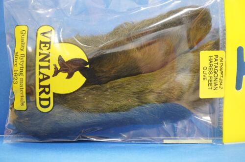 Patagonian HARES FEET snowshoe-rabbit 2 Stück Veniard OLIVE
