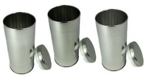 Image is loading Tea-Tin-Tall-Round-w-slip-lid-6-  sc 1 st  eBay & Tea Tin Tall Round w/slip lid 6