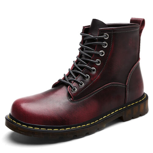 Mens Martin Ankle Boots High-top Casual Leather Oxford Work Shoes Tide Retro New