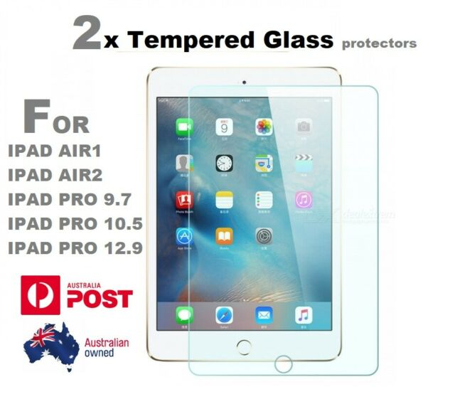 2x Real Tempered Glass Screen Protector For Apple iPad Air 1 2 Pro 12.9 9.7 10.5