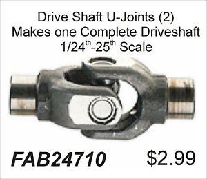 FABResinworks #24712 Scale Driveshaft U-Joints 2pcs. 24-25th Makes 1 Shaft