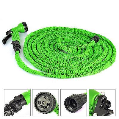 25/50/75ft 3X Expandable Flexible Garden Water Pipe Hose Expanding W/Spray Gun